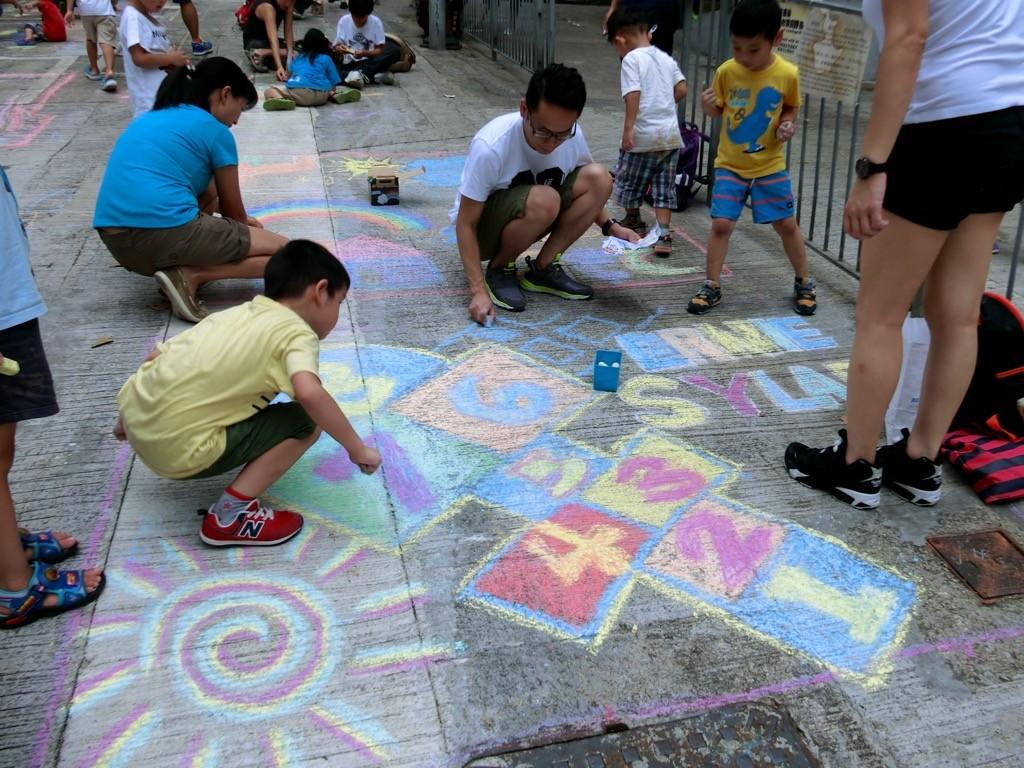 北區小哲社區遊戲日|一齊出街用粉筆畫路面